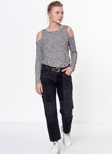 Omuzları Açık Triko Bluz-Vero Moda